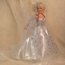 Starry Sky Silver & White Beaded GOWN-Wrap-Gloves-Shoes BARBIE