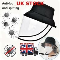 Fisherman Cap With Protective Clear Saliva-proof Dust-proof Sun Visor Hat