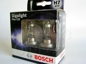 Pair Bosch H7 12V 55W Gigalight [+120%] Headlight Bulbs VW T5 T6 Transporter