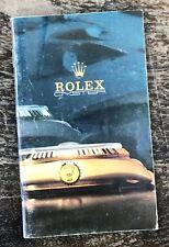 ROLEX VINTAGE 1988 opuscolo catalogo 16750 16800 1016 16550 16520 16528 16758