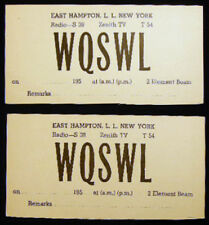 CIRCA 1950 EAST HAMPTON LONG ISLAND RADIO CARDS S 38 ZENITH TV T 54 WQSWL 2 ELEM