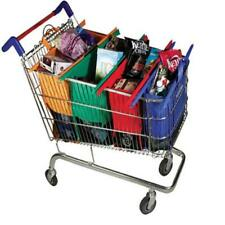 4X/Set Reusable Grocery Shopping Tote Bags Eco Foldable Trolley Cart Storage Bag