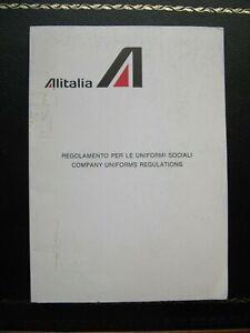 ALITALIA airlines crew uniform regulations 1981 manual 70 pages