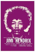 Jimi Hendrix at Fort Worth Texas Concert Poster 1969  Large Format 24x36