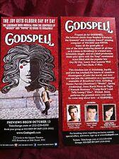 Godspell ad/flyer Broadway musical NYC Hunter Parrish previews Telly Leung UZO 1