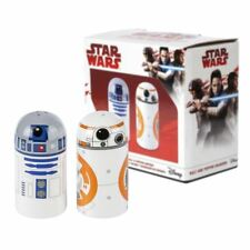 NEW Star Wars R2-D2 & BB-8 Porta Sale e Pepe in ceramica DROID Disney Ufficiale