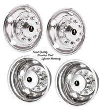 "22.5"" FORD F-650 F-750 10 LUG WHEEL SIMULATOR RIM LINER HUBCAP COVERS SET OF 4 ©"