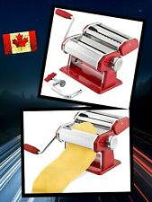 Pasta Maker Machine Manual W/Adjustable Thickness Settings Stainless Steel Red