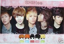 "SHINEE ""BAND'S FACES & CARTOON CHARACTERS"" ASIAN POSTER - Korean K-Pop Boy Band"