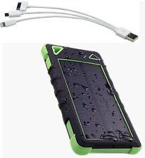 2 usb POWER BANK solare carica BATTERIA ESTERNA 100000mAh UNIVERSALE portatile