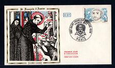 enveloppe 1er jour   Saint Francois d'Assise  Paris   1982