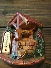 """3 D Vintage Chalkware Thermometer Well 1966 Miller Studios 5.5"""" x 6.5"""""""
