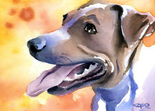 """Jack Russel Terrier"" Watercolor Westie Dog Art Print by Artist Djr"