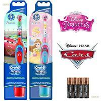 Braun Oral-B Advance Power Kids Battery Toothbrush Disney Cars + Princess 2 Pack