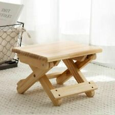 Portable Wood Stool Foldable Solid Adult Organizing Train Chair Folding Bench