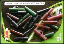 20 Carp Fishing Rig Safety Clips & Tails - Pack of 3 Colours