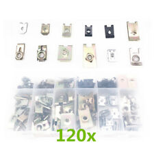 120x Mixed Alloy Washer Car Bumper Mudflap Self Tapping Fastener Gasket Clip Tab