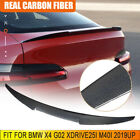 For Bmw X4 G02 Xdrive25i M40i 2019up Rear Trunk Spoiler Lip Wing Carbon Fiber