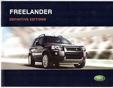Land Rover Freelander 2005-06 UK Market Brochure Adventurer Freestyle Sport HSE