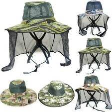 Mens Camo Bonnie Hat with Ear Neck Flap Cover Wide Brim Fishing Sun Hat Outdoor