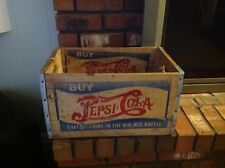 Vintage Pepsi Cola Crate Double Dot The 5 cent Drink in the BIG BIG Bottle