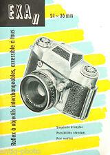 "Brochure publicitaire ""Exa II"" (Français)"