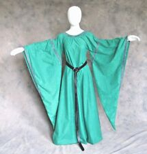 Plus Size Dress Bell Wing Long Sleeve Suede Boho Medieval Ren Faire Clothing