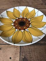 "Arabia Finland Sun Rose Sunflower Plate HLA Signed 7.75""  Luncheon Plate MCM"