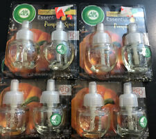 4 Pks Air Wick plug in Scented Oil Refills PUMPKIN SPICE  Essential Oil New