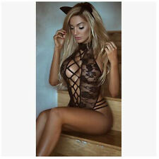 Sexy/Sissy Lingerie Cat Rose Lace Babydoll Sexy Costume (INT)