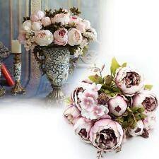 Hot Artificial Fake Flower Wedding Party Bridal Bouquet Home Decor light pink MT