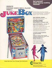 Juke box Chicago Coin Circa 1970's Arcade Machine Advertisement 092717DBE