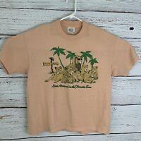 Busch Gardens Womens sz XL Orange Shirt Vtg Single Stitch Lion
