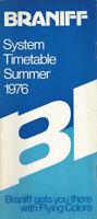 Braniff International Airways system timetable 7/15/76 [0031]