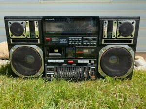 Vintage Tecsonic J-1 Jumbo Boom Box - HTF for parts or repair Powers on