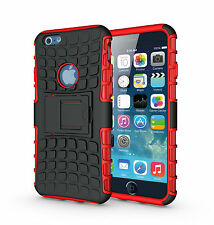 "For iPhone 6 6s 4.7"" Red Heavy Duty Strong Tradesman Durable Case Cover Stand"