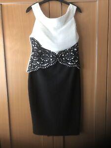 Lipsy Dress Black /Cream  Cocktail Dress Size 14