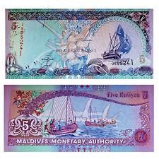 Pick 18e Malediven / Maldives 5 Rufiyaa 2011 Unc. / 199943vvv.