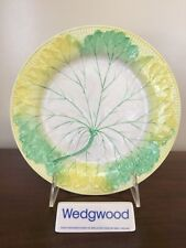 Antique Wedgwood Majolica YELLOW GREEN & WHITE LEAF PLATE c. 1860 (A)