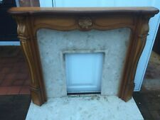 decorative fire surround with Marble effect back and hearth with Valor fire