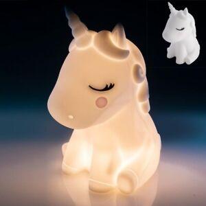 Unicorn Touch Sensitive Rechargeable LED Night Light Kids Decoration Table Lamp