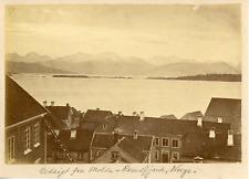 Norvège, Norway, Molde, Romsdalsfjord, vue générale du rivage  Vintage albumen p
