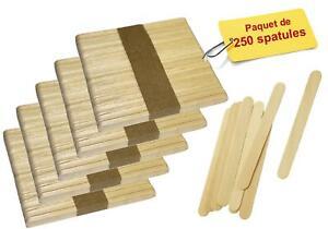 MFB Provence - Spatules jetables en bois pour l'épilation par 250 - 12 x 1.3 cm