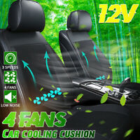 4 Fans 3D Mesh Breathable Car Seat Cushion Covers Protector Summer Ice    !!