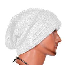 Men Knitting Slouchy Beanie Cap Baggy Winter Hat Oversize Unisex Skateboard Caps