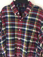 Ralph Lauren XL Plaid Button Down $89.50 Sport Shirt Pony Logo Multicolor New