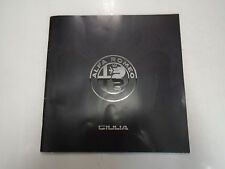 Alfa Romeo Giulia Brochure Manual Factory Oem Book Used Wear Rare