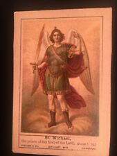 Antique Holy Card. Depicting St. Michael— Michael The Archangel.