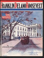 Franklin Delano Roosevelt 1942 White House Cover Sheet Music