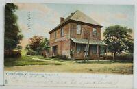 VA Yorktown Oldest Custom House In U.S. 1907 Norfolk to Calif. Postcard N16